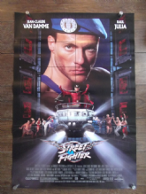 Streetfighter, Original DS Movie Poster, Jean-Claude Van Damme, Kylie Minogue, '94